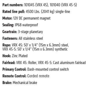 VRX 45-S POWERSPORT WINCH